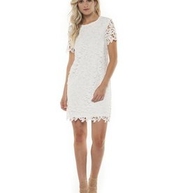 DEX Dex - Ivory Crochet S/Slv Dress