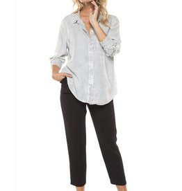 DEX Dex - Distress Stripe Roll-Up Slv Button-Up Shirt