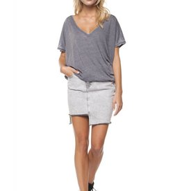 DEX Dex - Grey Burnout V-Neck Tee