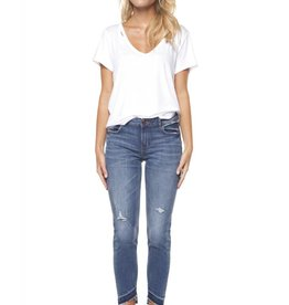 DEX Dex - Blue Mercy Released Frayed Hem Super Skinny Jeans