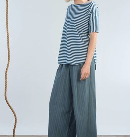Jennifer Glasgow Jennifer Glasgow - Striped Extreme Wide Leg High-Rise Pants 'Sheave'