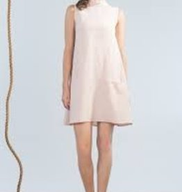 Jennifer Glasgow Jennifer Glasgow - Blush Ruffle Neck Slv/less Dress 'Nautical'