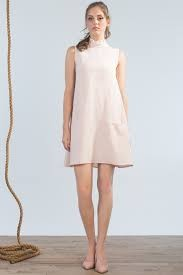 Jennifer Glasgow Jennifer Glasgow - Blush Ruffle Neck Slv/less Dress 'Nautical'