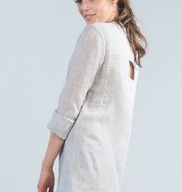 Jennifer Glasgow Jennifer Glasgow - Grey Stripe Shirt w/ Cut-out Back 'Helm'