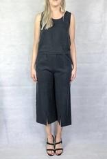 Eve Gravel Eve Gravel - Black Wide Leg Pants 'Lac Noir'