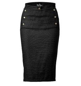 Melow by Melissa Bolduc Melow - Black Pencil Skirt w/ Button Details