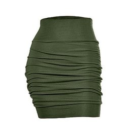Melow by Melissa Bolduc Melow - Green High Waisted Fitted Skirt
