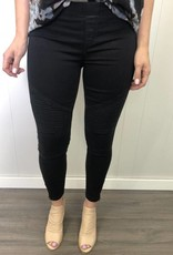 DEX Dex - Black Pull-On Moto Leggings w/ Zip Ankle