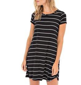 Z Supply Z Supply - Black/White Striped A-Line Dress