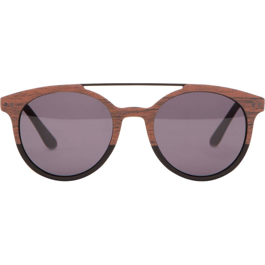 Matt & Nat Matt + Nat - Brown Sunglasses w/ Silver Detail Frame 'Moss'