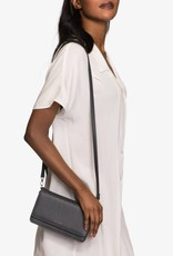 Matt & Nat Matt + Nat - Small Black Structured Crossbody Bag w/ Magnetic Front Closure 'Bee'