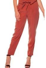 DEX Black Tape - Burnt Orange Trouser W/Foldover Waistband and Self-Tie