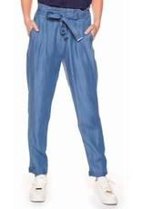DEX DEX - Denim Blue Pull-On Pant w/ Self-Tie + Cuffs