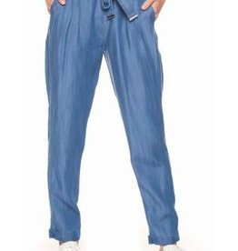 DEX DEX - Denim Blue Pull-On Pant w/ Self-Tie + Cuffs