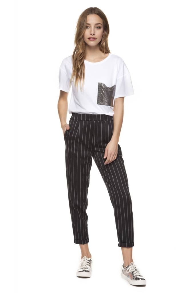 Dex - Striped Pull-On Pant
