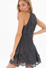 Black Swan Black Swan - Navy Lace Fit & Flare Dress 'Charlotte'