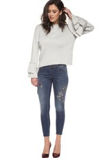 Black Tape - Grey Knit Bell-Slv Sweater