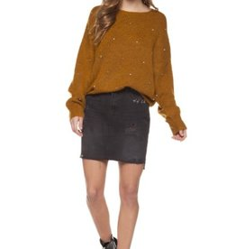 Dex - Mustard Yellow Knit Sweater w/ Pearl Details