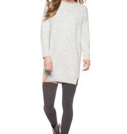 DEX - Grey Knit Dress w/ Lace-up sides