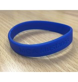 MCA Blue Rubber Wristbands