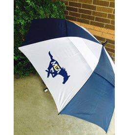 """Tornado MCA  Solid Navy Umbrella-83"""" Vented"""