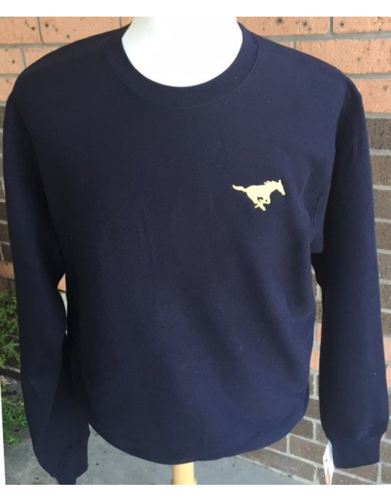 MV Sport Navy Crew Sweatshirt-Adult