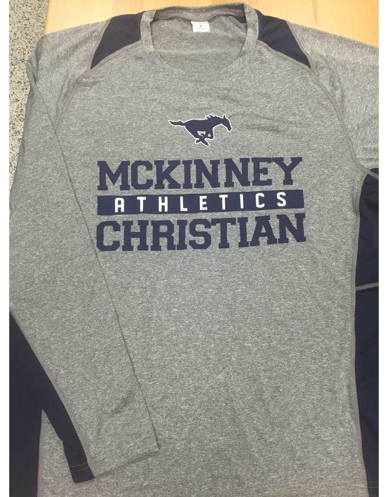 Sportek Athletic L/S Dri-Fit Gray Shirts-US Only