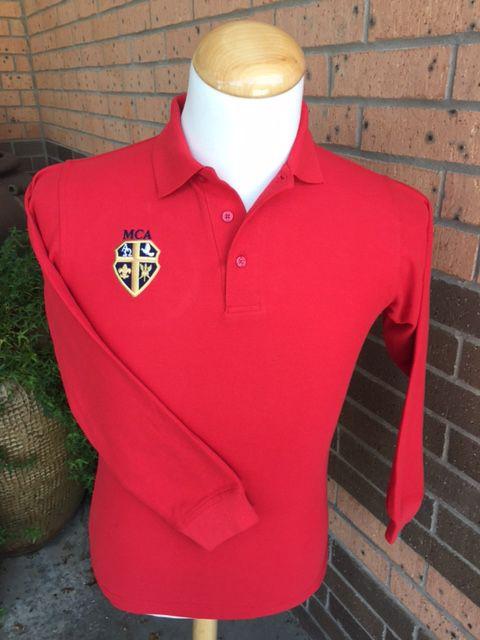 Elderwear Polo Long-Sleeve Red Adult