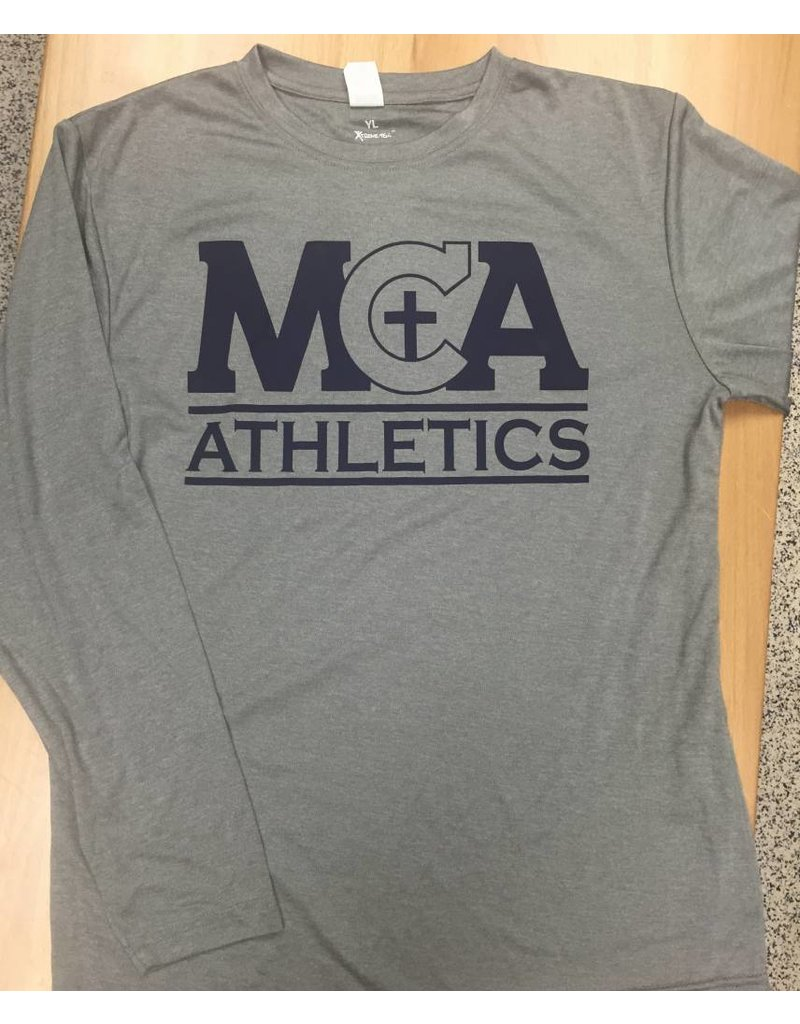 Sportek Athletic MS Only-L/S Dri-fit Gray