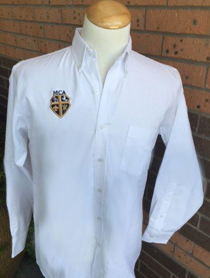 Elderwear Boys Long-Sleeved Oxford White