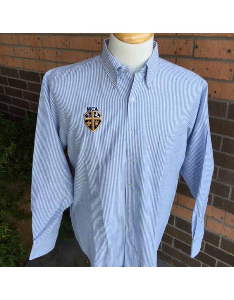 Elderwear Men's Long-Sleeved Oxford Blue Pinstripe