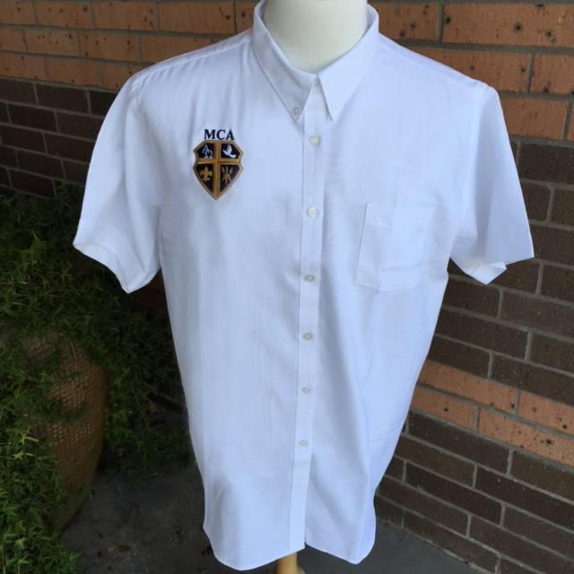Elderwear Men's Short-Sleeve Oxford - White