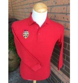 Elderwear Polo Long-Sleeve Red Youth