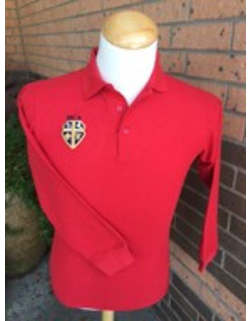 Elderwear Polo Long-Sleeve Red Youth