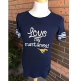 """Blue84 """"Love My Mustangs"""" T-shirt"""