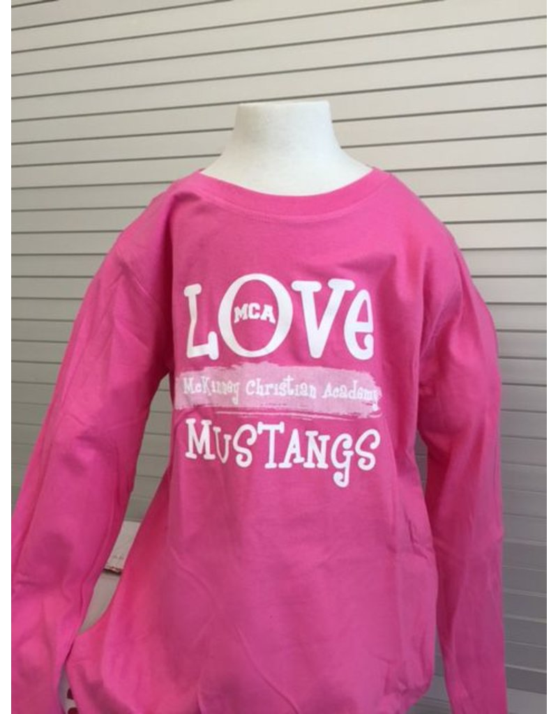 LAT MCA Pink Long-Sleeve Ruffle Shirt Youth-2014