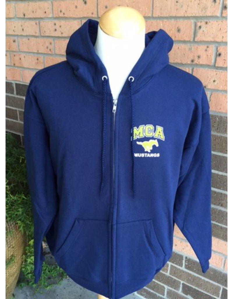 Hanes MCA Classic Zip Sweatshirt Adult