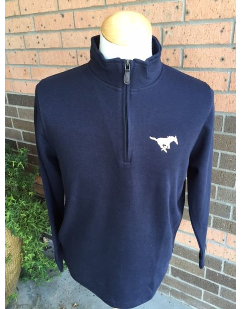 Vantage Navy 1/4 Zip Sweater-Ladies