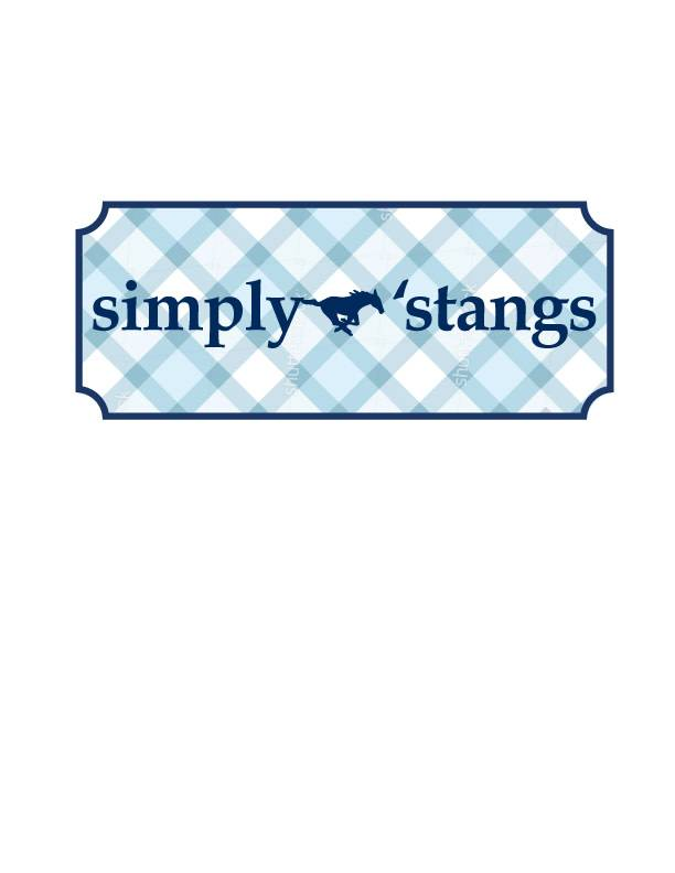 Comfort Colors Simply Stangs T-Shirt-Youth