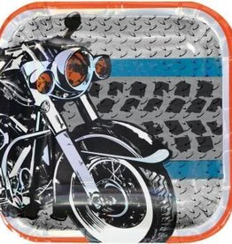 Creative Converting ASSIETTES 7PO MOTOS METALLIQUES (8)