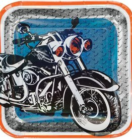 Creative Converting ASSIETTES 9PO MOTOS METALLIQUES (8)