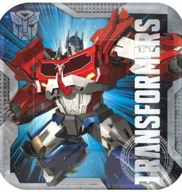 Amscan ASSIETTES 9'' TRANSFORMERS (8)