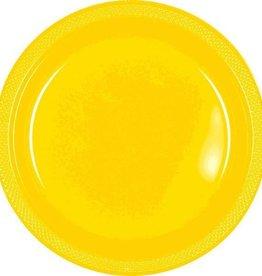 Amscan ASSIETTES EN PLASTIQUE 9PO  -  JAUNE ENSOLEILLE (20)