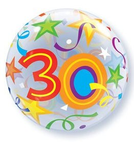 "Qualatex BALLON BUBBLES 22"" 30 ANS"