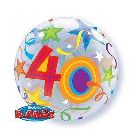 "Qualatex BALLON BUBBLES 22"" 40 ANS"