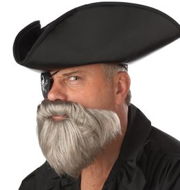 California Costumes BARBE DE CAPITAINE GRISE