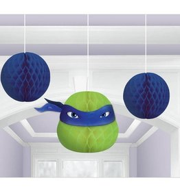 Amscan DÉCORATIONS SUSPENDUES - TORTUES NINJA (3)