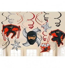 Amscan DECORATIONS TOURBILLONS NINJA (12)