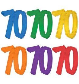Beistle Co. DECOUPAGE DE CARTON 70 ANS (A L'UNITE)
