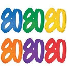 Beistle Co. DECOUPAGE DE CARTON 80 ANS (A L'UNITE)